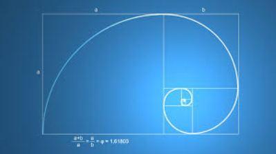 trajectory fibonacci spiral blue