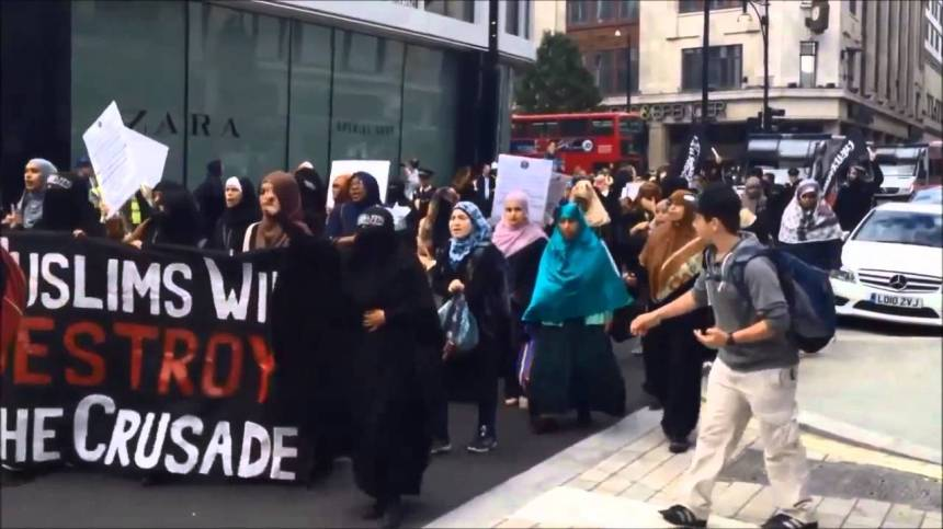 muslims march London