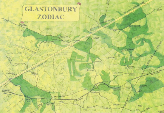 Glastonbury zodiac from alchemical journey