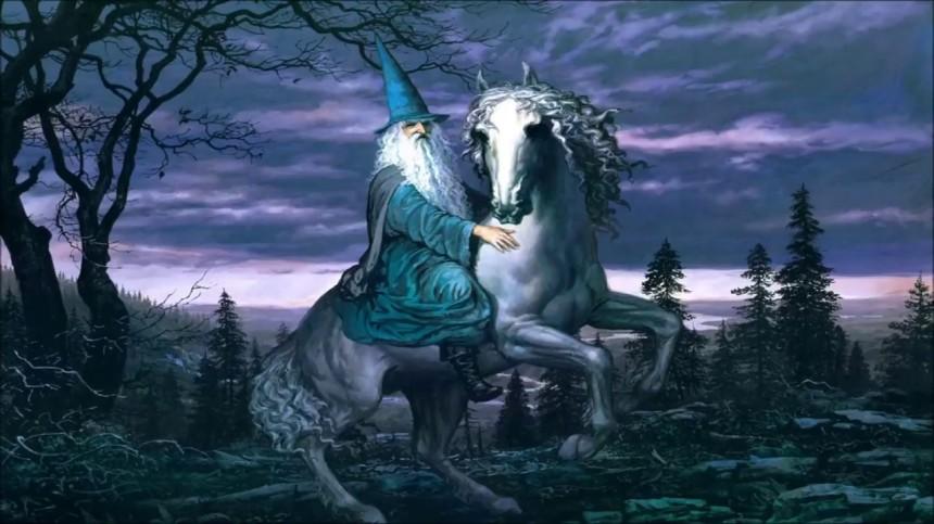 Merlin white horse